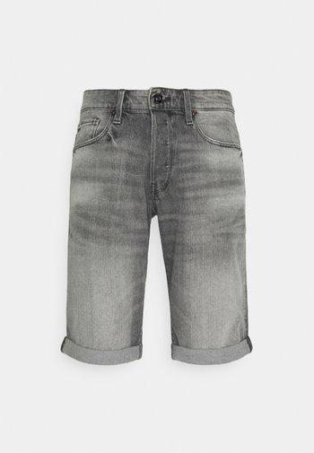 Jeansshorts - black stretch denim