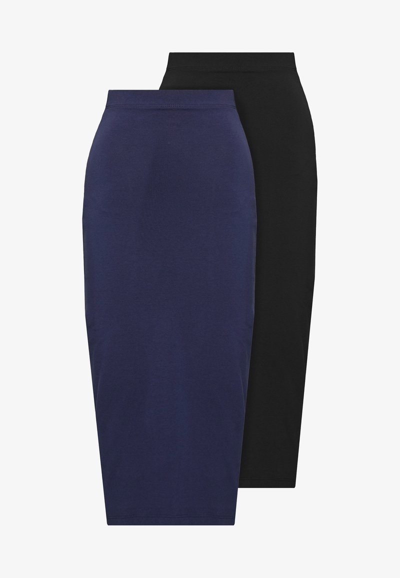 Even&Odd Tall - 2 PACK - Pencil skirt - dark blue/black