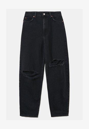 Straight leg jeans - blk