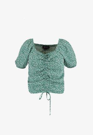 Blouse - multi green khaki