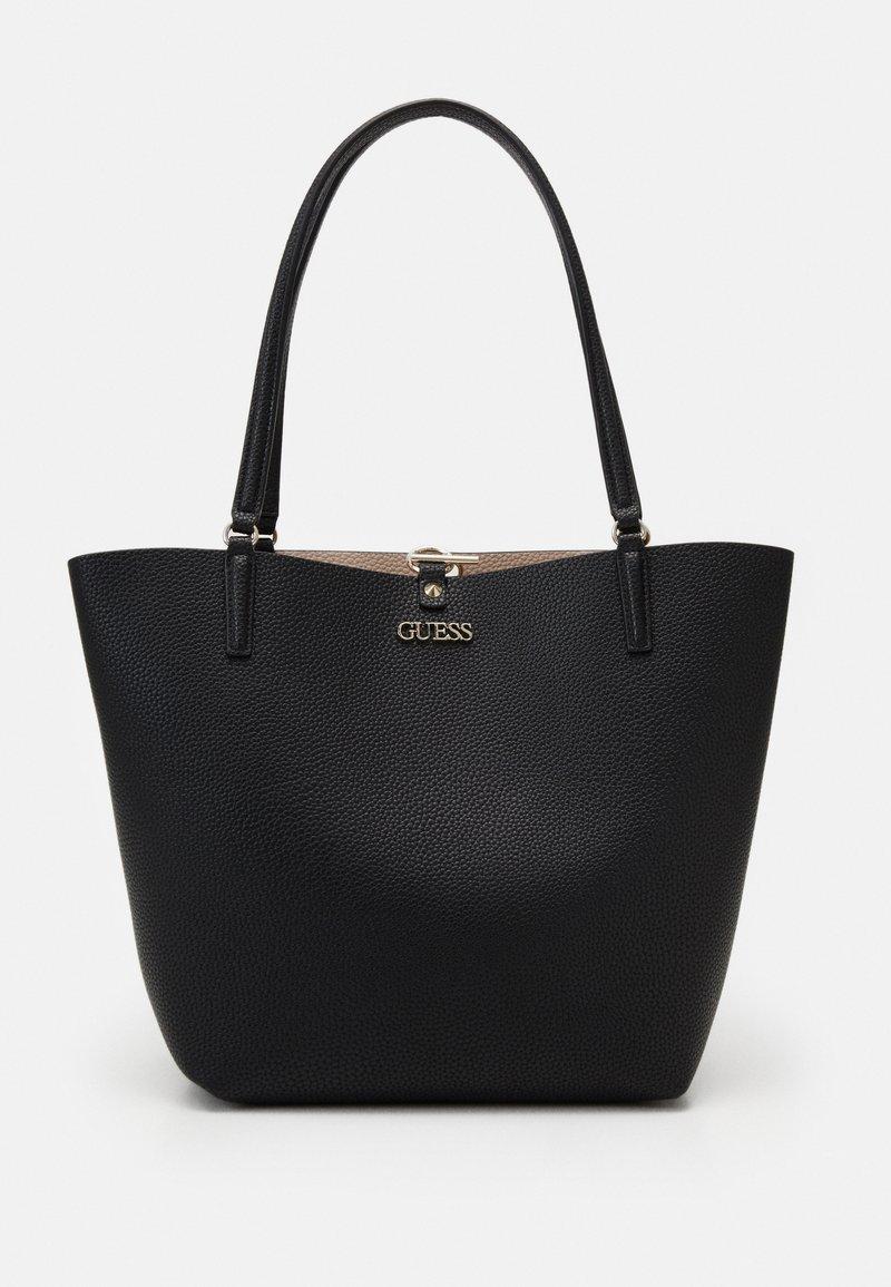 Guess - ALBY TOGGLE TOTE SET - Tote bag - black/stone