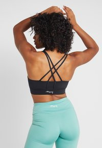 Hey Honey - CRISS CROSS BRA BORDAUX - Sports bra - black - 2