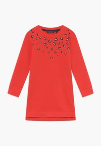 Blue Seven - KIDS ANIMAL PRINT - Korte jurk - tomate - 0
