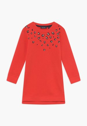 KIDS ANIMAL PRINT - Korte jurk - tomate