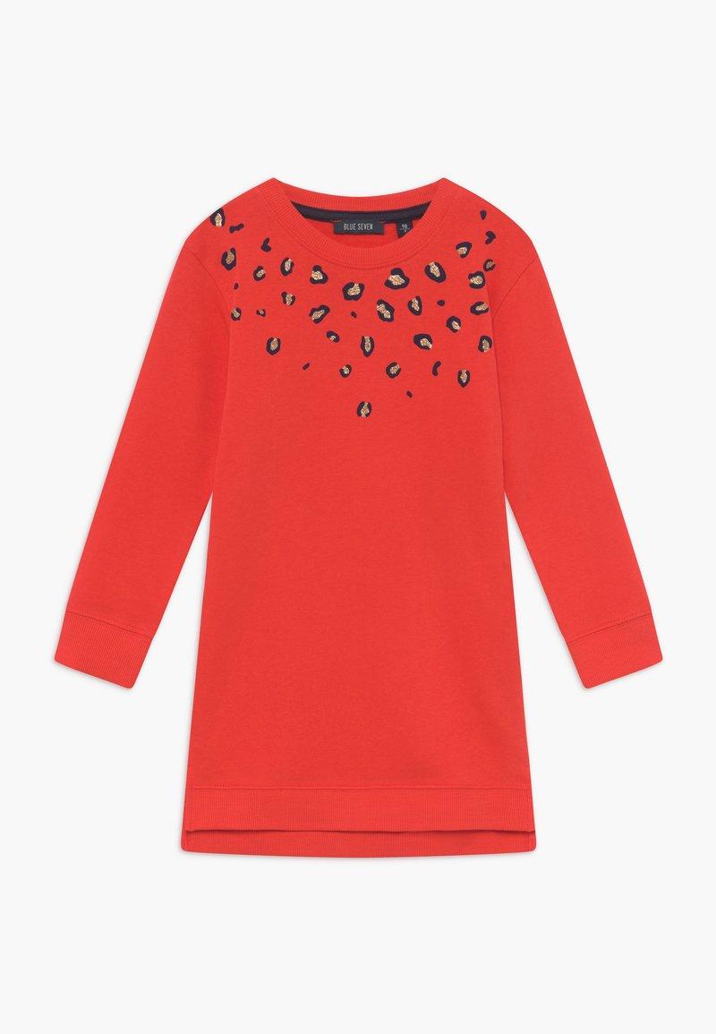 Blue Seven - KIDS ANIMAL PRINT - Korte jurk - tomate