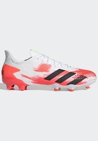 adidas Performance - PREDATOR 20.2 FG - Fotbollsskor fasta dobbar - ftwwht/cblack/pop - 9