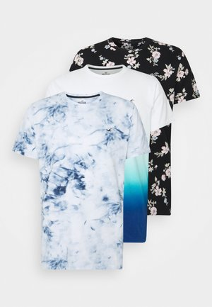 3-PACK - Print T-shirt - floral/ombre/wash