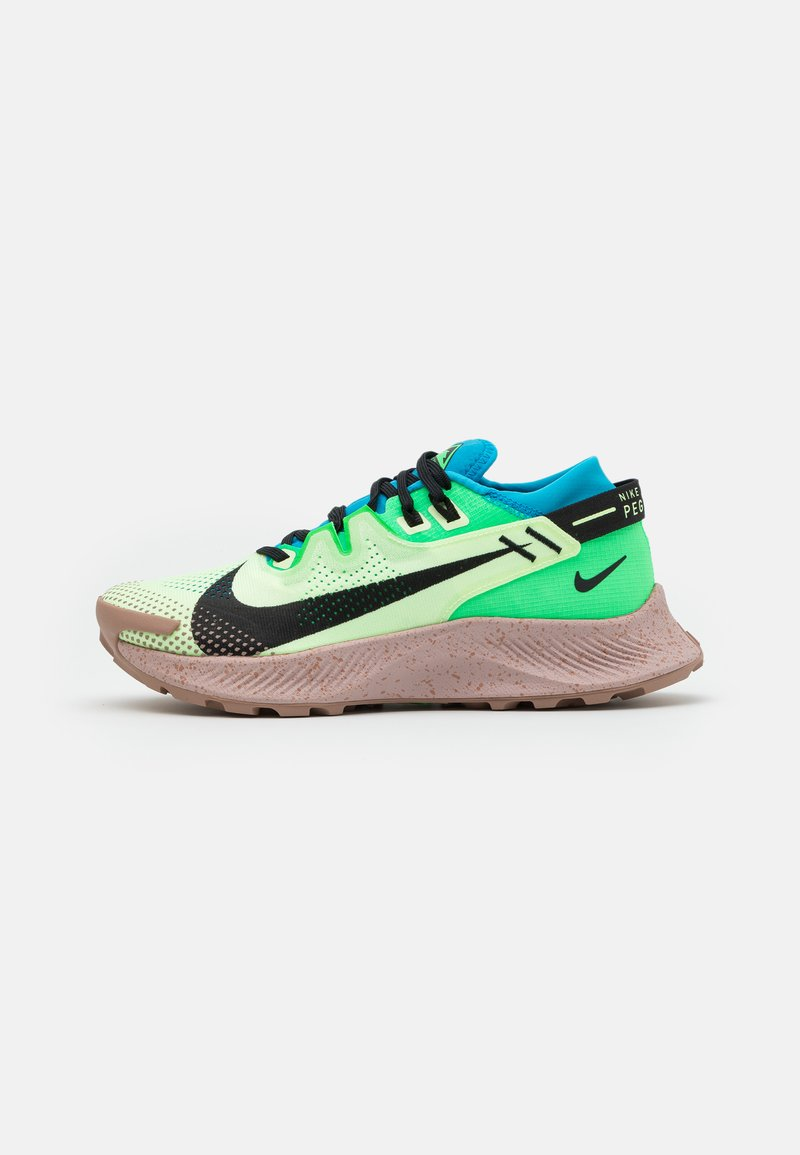 Nike Performance - PEGASUS TRAIL 2 - Obuwie do biegania Szlak - barely volt/black/laser blue