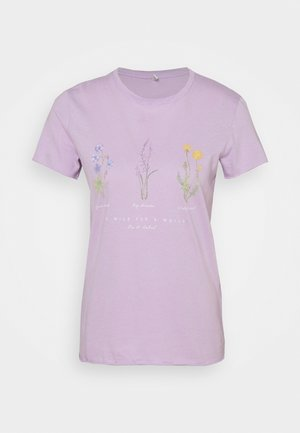 ONLLUCY LIFE WILDFLOWER  - Print T-shirt - lilac