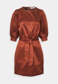 Samsøe Samsøe - CELESTINA SHORT DRESS - Cocktail dress / Party dress - brandy brown - 0