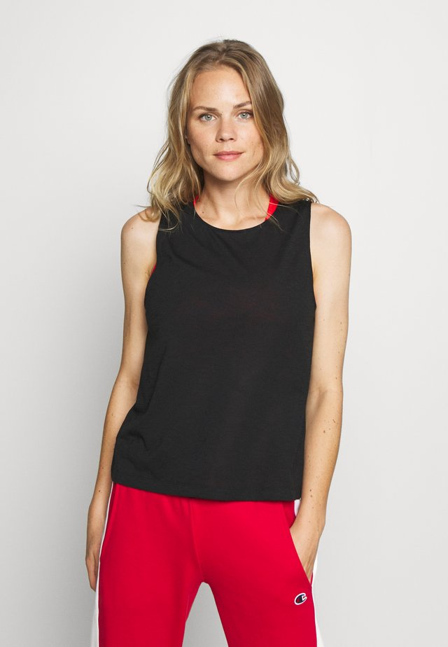 TEXTURE TANK - Toppe - black