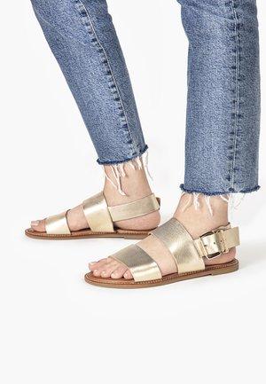 Sandals - mntrl gold ngl