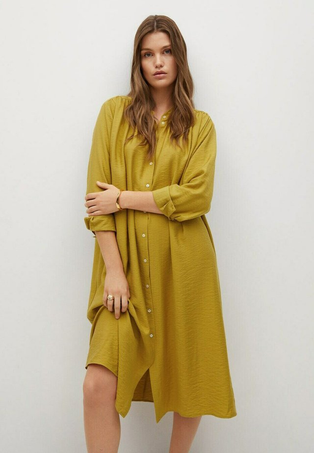 SAONA I - Shirt dress - olijfgroen