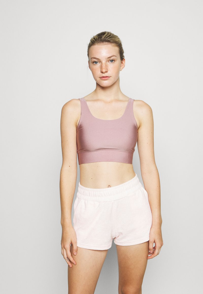 Hey Honey - BUSTIER GLOSSY - Light support sports bra - mauve