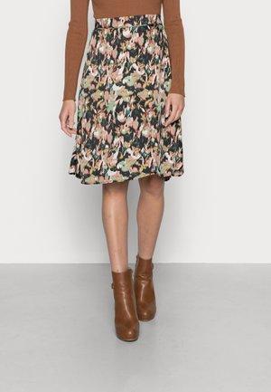 SKIRT MIDI - A-line skirt - autumn forest multi