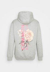 Common Kollectiv - FLORAL HOODIE UNISEX - Sweatshirt - light grey - 1