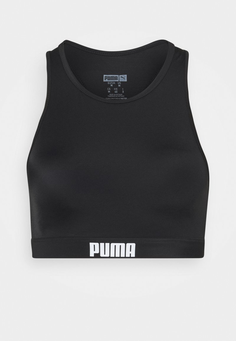 Puma - SWIM WOMEN RACERBACK - Bikini pezzo sopra - black