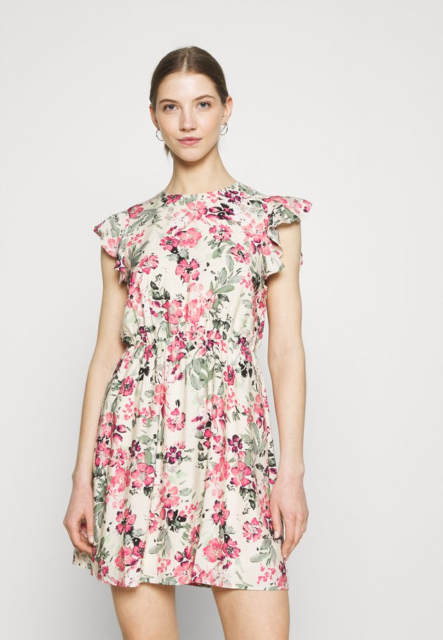 VMGIGI SHORT DRESS - Denní šaty - birch/gigi with honey suckle