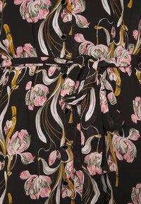 Object - OBJCINNA LONG SHIRT DRESS - Hverdagskjoler - black/multi colour - 5
