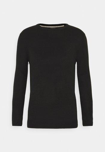CREW - Stickad tröja - black