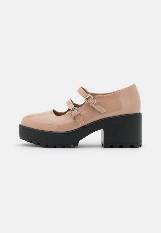 VEGAN MURA DOUBLE STRAP SHOES - Czółenka na platformie - pink