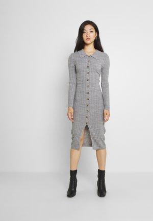 VITINA  BUTTON DRESS - Jumper dress - mottled grey