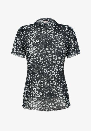 Print T-shirt - schwarz/weiß