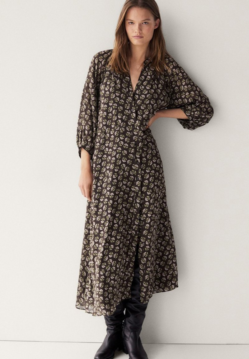Massimo Dutti - Day dress - brown