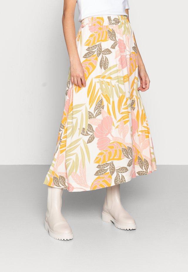 GABY SKIRT - Áčková sukně - birch botanic outline