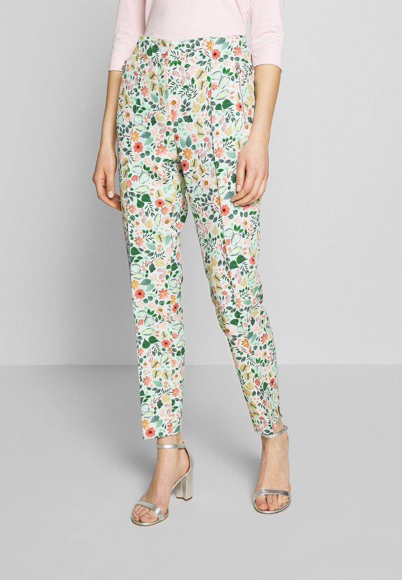 RIANI - Trousers - mint patterned