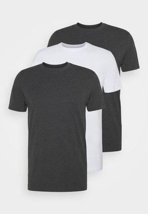 TIM TEE 3 PACK - Basic T-shirt - black/white