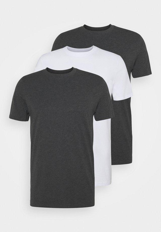 TIM TEE 3 PACK - T-shirt basique - black/white