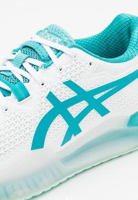 ASICS - GEL-RESOLUTION 8 - Scarpe da tennis per tutte le superfici - white/lagoon - 5