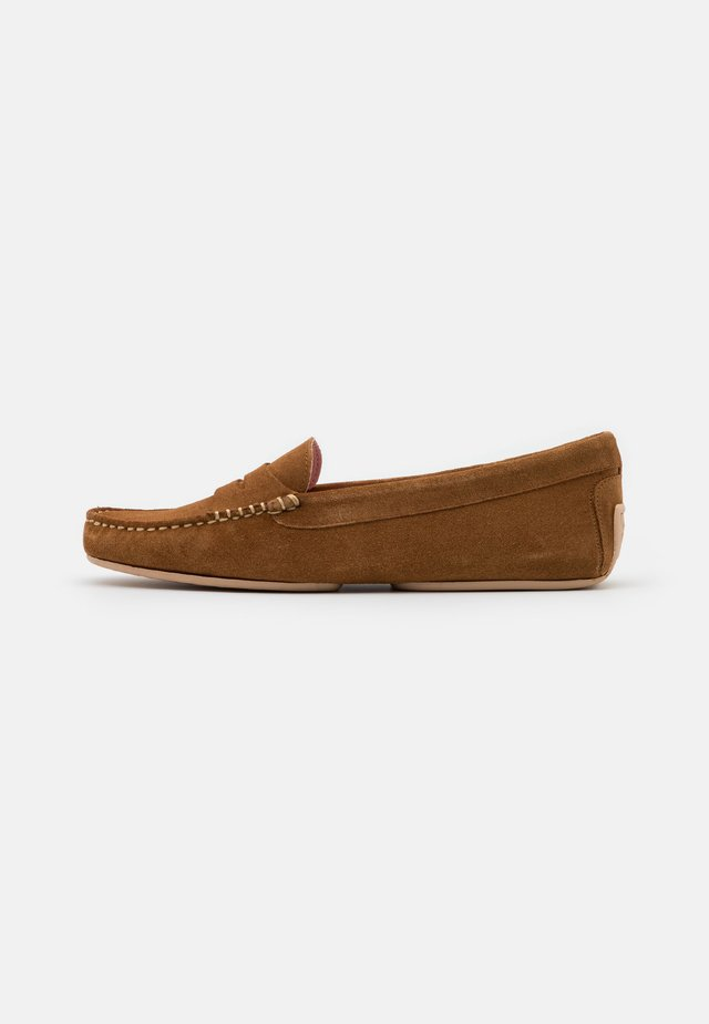 Mokasyny - cognac/light brown