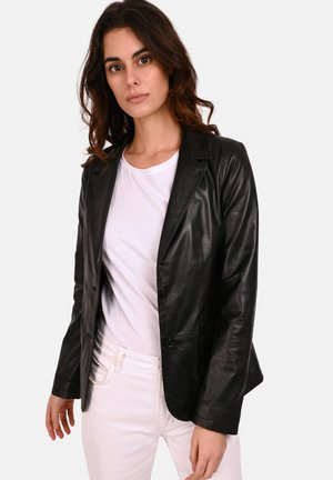 SANDY - Leather jacket - black