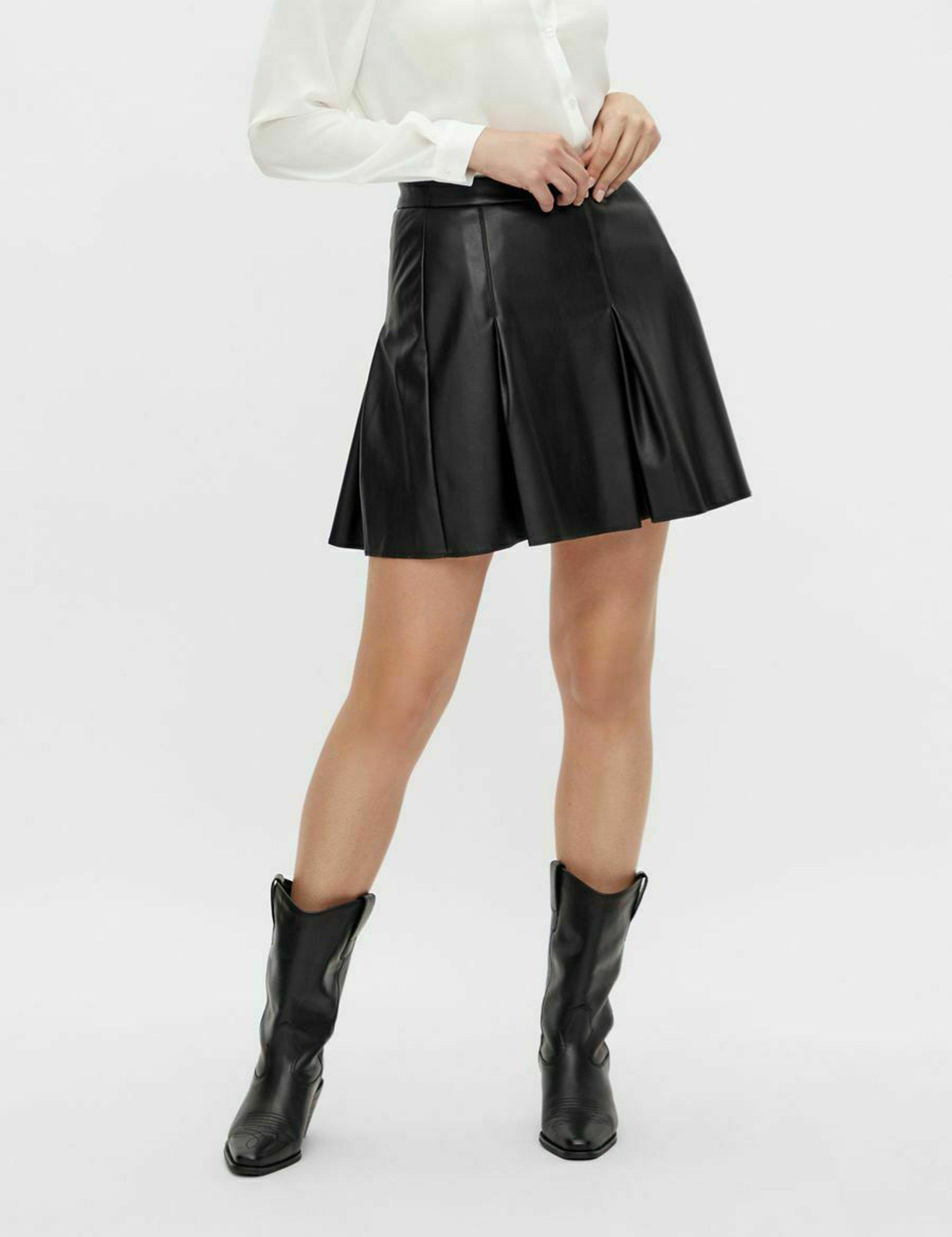 Femme LEDERROCK MINI KUNSTLEDER - Jupe en cuir