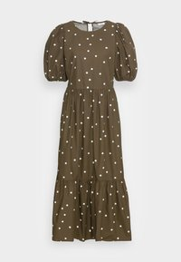 Marc O'Polo DENIM - DRESS PUFF SLEEVE - Maxi dress - multi/burnished logs - 3