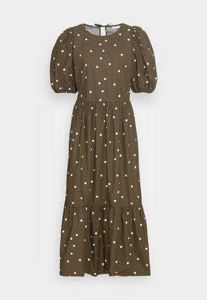 DRESS PUFF SLEEVE - Vestido largo - multi/burnished logs