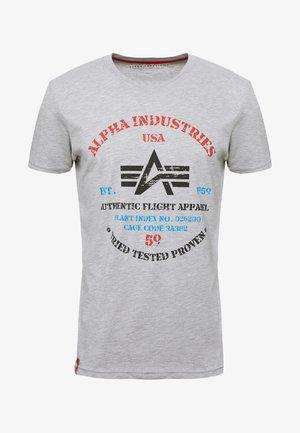T-shirt med print - grey heather