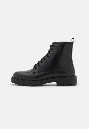 COLE LACE UP - Lace-up ankle boots - smooth black