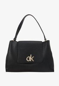 Calvin Klein - LOCK TOP HANDLE SATCHEL - Handbag - black - 5