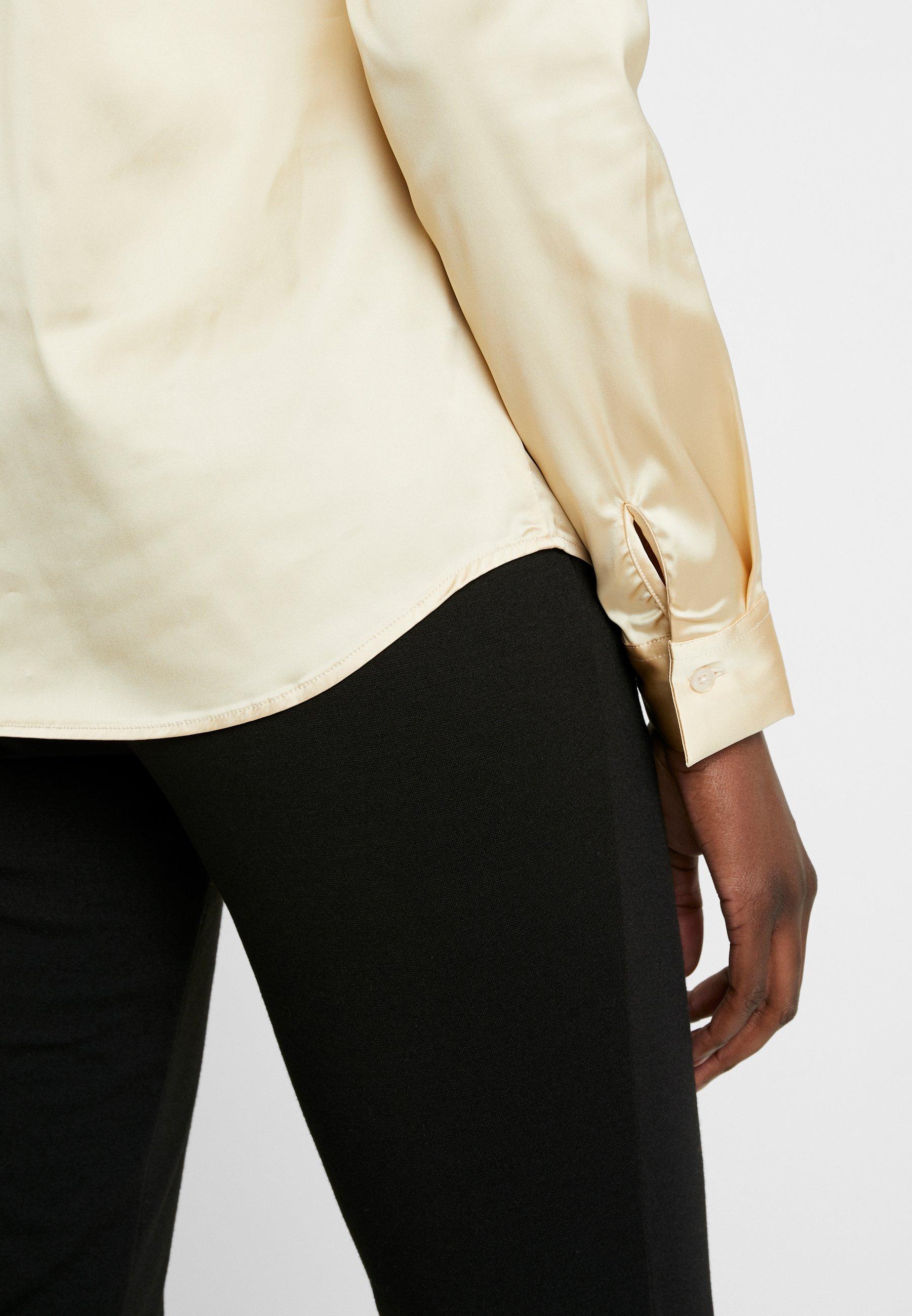 Mos Mosh TILDA FRILL SATIN Skjorte beige Zalando.no