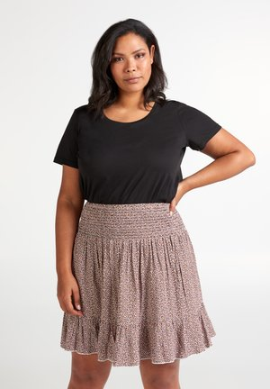 MIT PRINT - A-line skirt - dusty rose