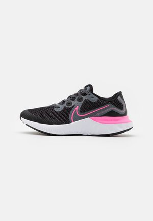 RENEW RUN  - Neutral running shoes - black/pink glow/light smoke grey/white