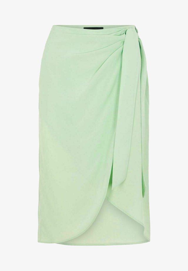 Spódnica z zakładką - silt green
