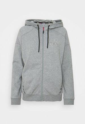 JACKET HANNIE - Felpa con zip - light grey melange