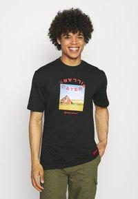 Caterpillar - WORKWEAR TEE - T-shirt z nadrukiem - black - 0