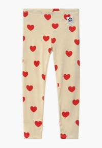 Mini Rodini - HEARTS - Leggings - Trousers - offwhite - 0