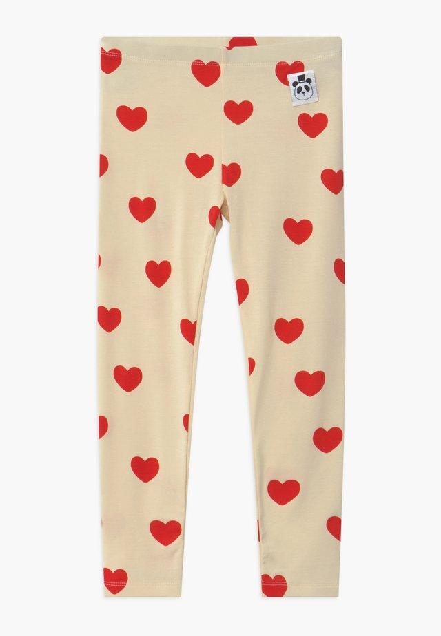 HEARTS - Leggings - Hosen - offwhite