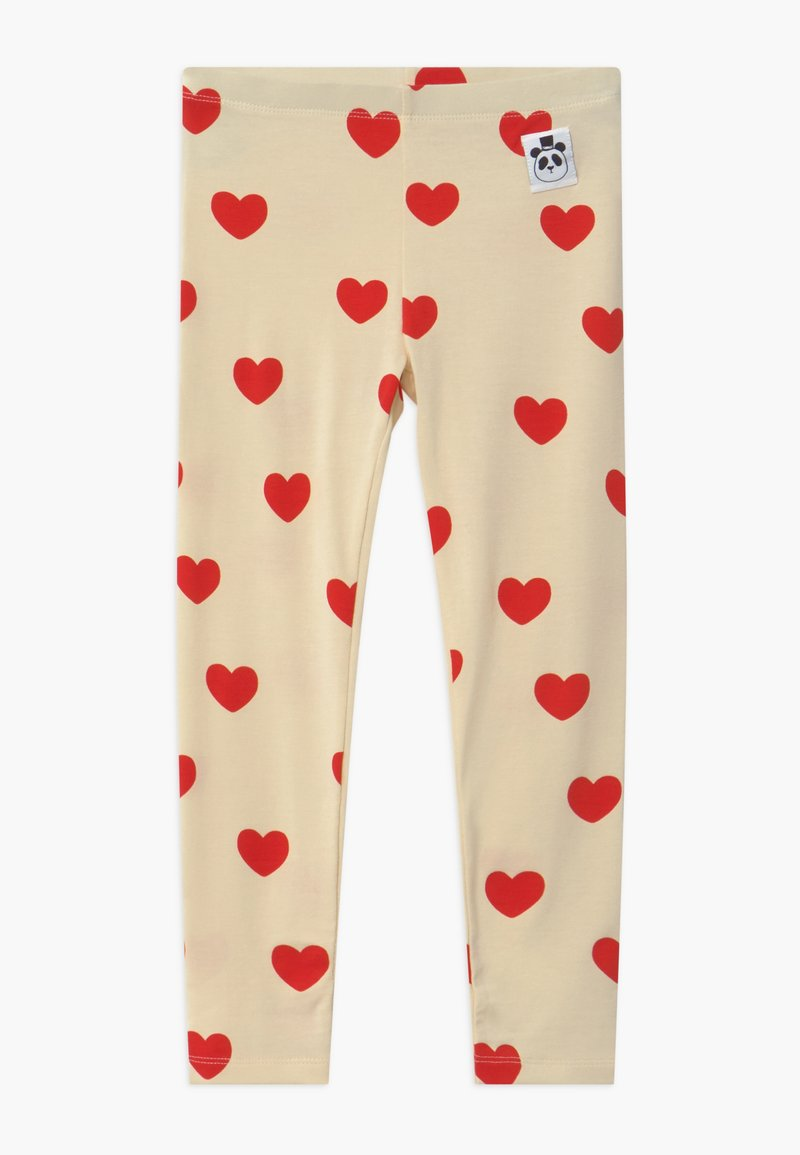 Mini Rodini - HEARTS - Leggings - Trousers - offwhite